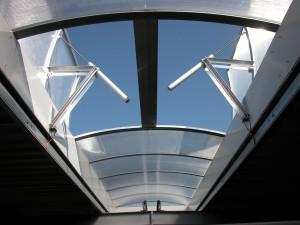 ouvrants intégrés de voute aluminium