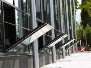châssis de désenfumage façade xxl grande dimension type vec - désenfumage naturel et ventilation naturelle