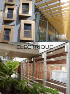 châssis de façade électrique désenfumage naturel ventilation naturelle en façade ventelles châssis à lame exubaie intégré