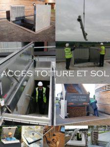 désenfumage naturel et ventilation naturelle en toiture - accès toiture assistés trappes de sol à carreler trappe coupe feu