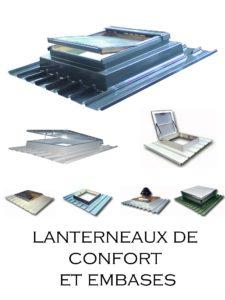 désenfumage naturel et ventilation naturelle en toiture éclairage zénithal embase d'adaptation fenêtre de toit vélux